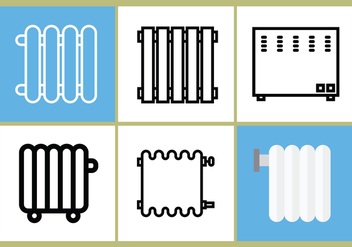 Radiator Vector Set 3 - Free vector #393201