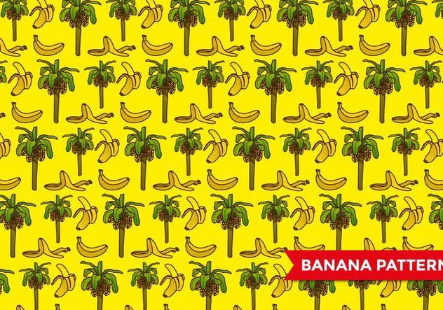 Banana Tree Pattern Free Vector Download 393211 Cannypic