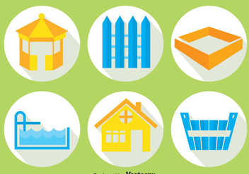 Home Decoration Element Icons Vector - vector #393331 gratis