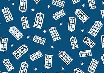 Police Box Pattern Background - vector #393341 gratis