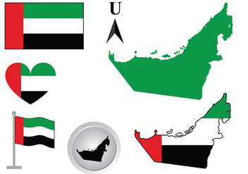 UAE Map Vector - Free vector #393381