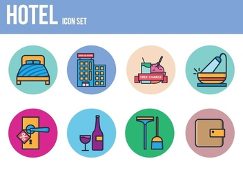 Free Hotel Icon Set - vector gratuit #393451