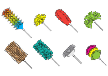 Feather Duster Icons - vector #393461 gratis