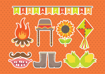 Junina Icons - vector #393471 gratis