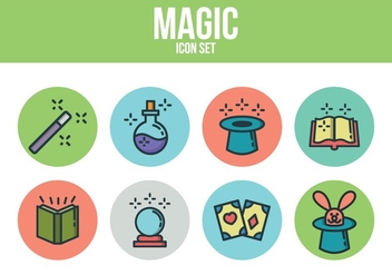 Free Magic Icon Set - vector #393501 gratis