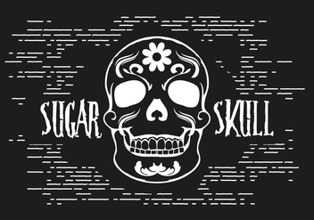 Free Sugar Skull Vector Illustration - бесплатный vector #393541