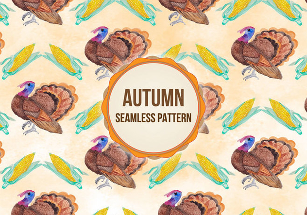 Vector Autumn Thanksgiving Background - vector gratuit #393561