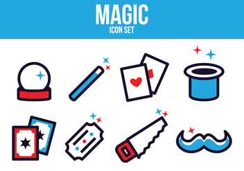 Free Magic Icon Set - vector #393601 gratis