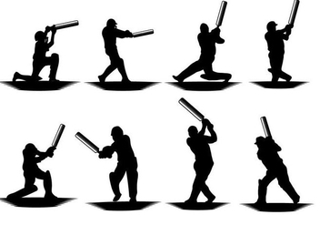 Free Cricket Player Vector - Kostenloses vector #393651