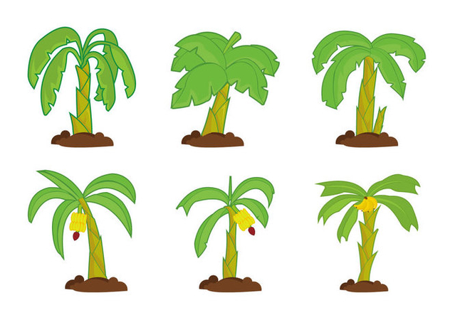 Banana tree vector pack - vector #393671 gratis