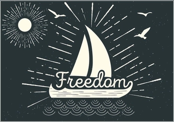 Free Ship Vector Typography - vector gratuit #393721