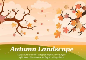 Autumn Landscape Vector Illustration - бесплатный vector #393751