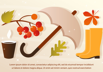 Free Vector Rainy Fall Elements - Free vector #393761