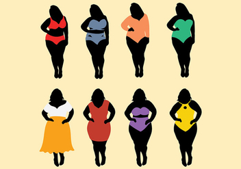Free Fat Women Icons Vector - vector gratuit #393771