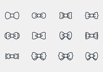 Bow Ties Icon Vectors - vector #393791 gratis