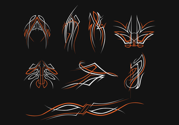 Free Pinstripes Vector Set - Kostenloses vector #393801