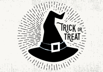 Witch Hat Trick or Treat Illustration - Free vector #393841
