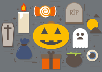 Free Halloween Symbols Vector Collection - Kostenloses vector #393871