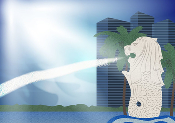 Merlion Landscape Illustration Vector - vector #393881 gratis