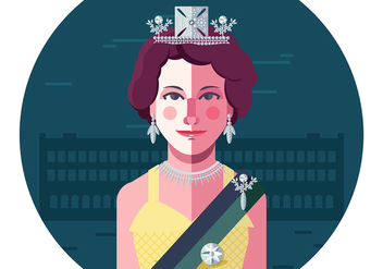 Young Queen Elizabeth Food - vector gratuit #393891