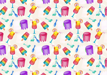 Vector Summer Beach Pattern - Free vector #393921