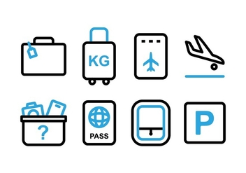Free Airport Dual Tone Icons - Free vector #394031