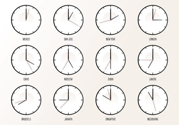 World Wide Timezone - Free vector #394051