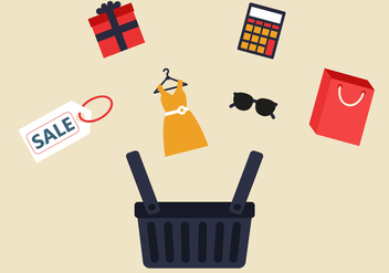 Free Shopping Vector - vector gratuit #394081