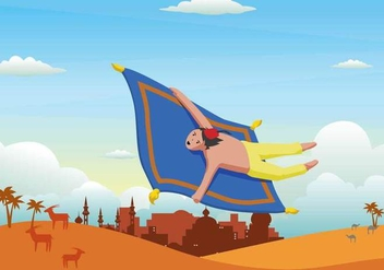 Free Magic Carpet Illustration - бесплатный vector #394181