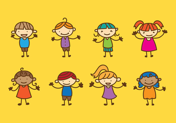 Children Day Character Vector - vector gratuit #394191