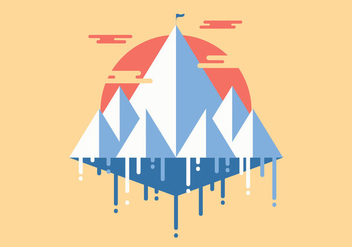 Everest Flat Minimalist Illustration Vector - Free vector #394221
