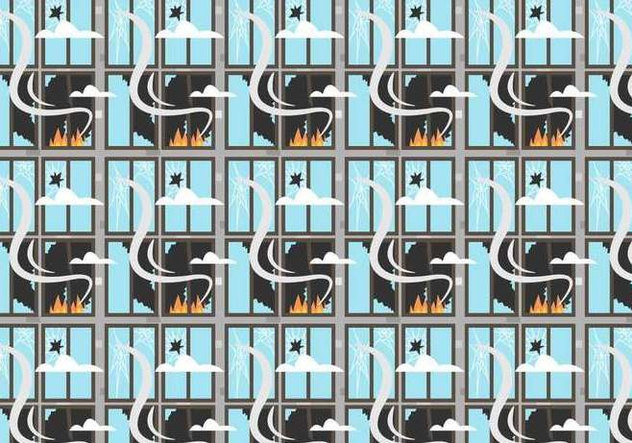 Fire and Broken Windows Pattern Vector - vector #394231 gratis