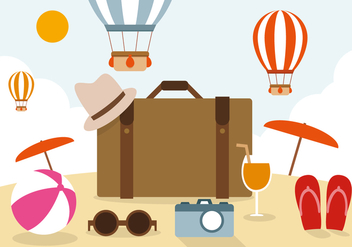 Free Travel Vector Illustration - бесплатный vector #394301