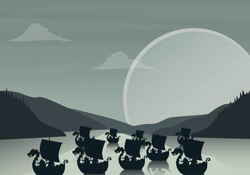 Free Viking Ship Illustration - Free vector #394311