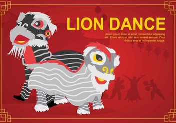 Free Lion Dance illustration - Kostenloses vector #394321