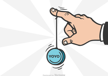 Free Yoyo Hand Vector Illustration - Free vector #394351