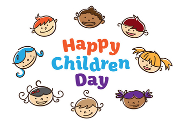 Children Day Vector - vector gratuit #394401