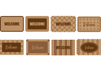 Welcome Mat Icons - vector gratuit #394421
