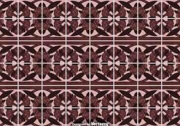 Tile Floor Background - Ornamental Vector Pattern - vector gratuit #394511