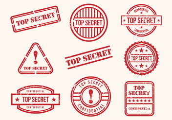 Free Top Secret Stamps Vector - vector gratuit #394721