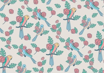 Budgie Beauty Pattern Vector - Free vector #394731