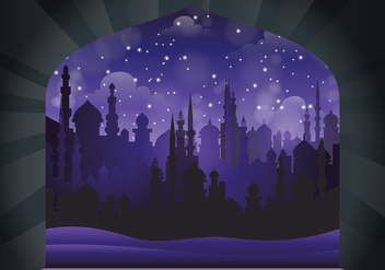 Free Arabian Nights Vector Illustration - Free vector #394841