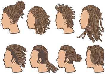 Free Dreads Icons Vector - бесплатный vector #394851