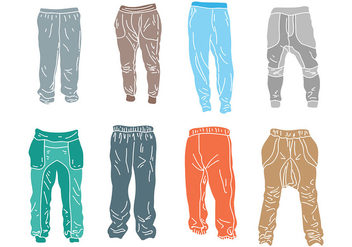 Free Sweatpants Icons Vector - Free vector #394861