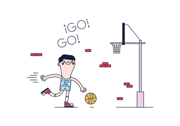 Free Basketball Player Vector - бесплатный vector #394901