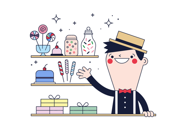 Free Candy Man Vector - Free vector #394911