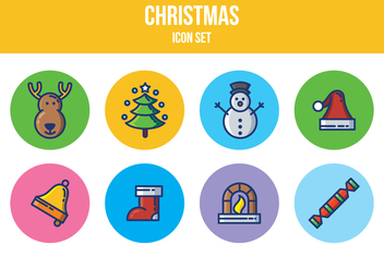 Free Christmas Icon Set - Kostenloses vector #394961