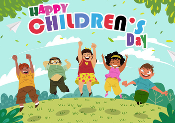 Happy Childrens Day - бесплатный vector #395011