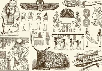 Sepia Egypt Art - Free vector #395191