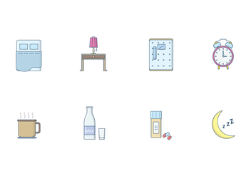 Free Sleeping Icons Vector - vector gratuit #395221